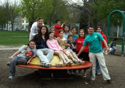 Pernet after school michael and kids in playground-1